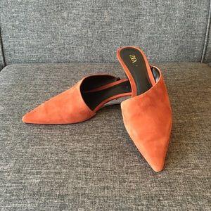 Zara Burnt Orange Mules